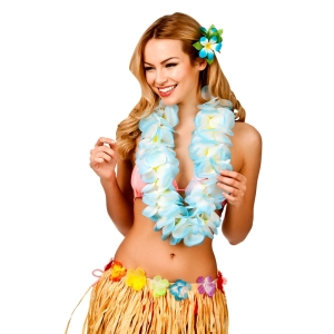 Sky Blue Hawaiian Lei