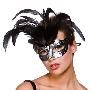 Firenze Eye Mask Silver / Black
